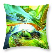 Envious Thoughts Abstract Throw Pillow