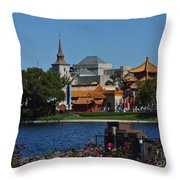 Epcot China And Norway Throw Pillow