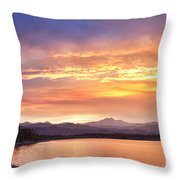 Epic August Colorado Sunset  Throw Pillow