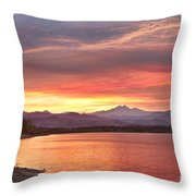 Epic August Sunset 2 Throw Pillow