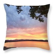 Epic August Sunset Throw Pillow