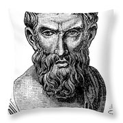 Epicurus (343?-270 B.c.) Throw Pillow by Granger