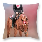 Equestrian Competition Throw Pillow