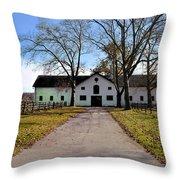 Erdenheim Farm Equestrian Stable Throw Pillow