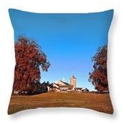 Erdenheim Farm In Autumn Throw Pillow