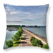 Erie Basin Marina Summer Series 0001 Throw Pillow
