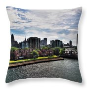 Erie Basin Marina Summer Series 0002 Throw Pillow