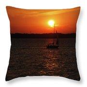 Erie Basin Sunset 3579 Throw Pillow