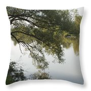 Erie Canal Turning Basin Throw Pillow