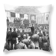 Erie Railway Auction, 1878 Throw Pillow