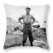 Ernie Pyle (1900-1945). American Journalist. Photograph, C1942 Throw Pillow