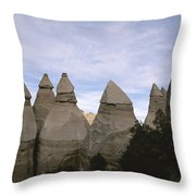 Erosion-chiseled Rock Formations Formed Throw Pillow