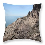 Erosion Of Glacial Drumlin Throw Pillow