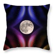 Erotic Moonlight Throw Pillow