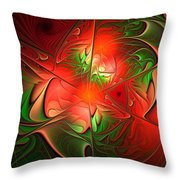 Eruption - Abstract Art Throw Pillow