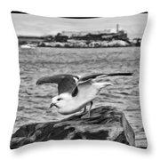 Escape From Alcatraz Throw Pillow