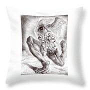 Escape From Objective Reality Throw Pillow