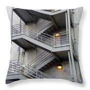 Escape Into The Grey Throw Pillow