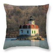 Esopus Meadows Lighthouse I Throw Pillow