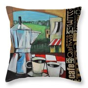 Espresso Coffee Languages Poster Throw Pillow