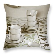 Espresso Cups Throw Pillow