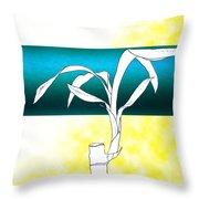 Essence Yellow Throw Pillow