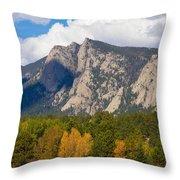 Estes Lake Autumn View  Throw Pillow