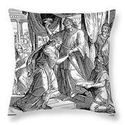 Esther & Ahasuerus Throw Pillow