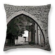 Estonia Old Town Wall Throw Pillow