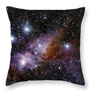 Eta Carinae Nebula, Infrared Image Throw Pillow