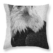 Etched Eagle Throw Pillow