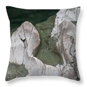 Etched Rock Water 5 Throw Pillow