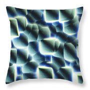 Etched Silicon Wafer Throw Pillow