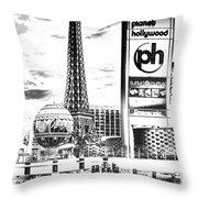 Etched Vegas Throw Pillow