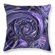 Eternal Depth Of Abstract And Chrome Fx  Throw Pillow