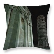 Ethereal Moonlight Scene Of Duomo Santa Throw Pillow by Carson Ganci