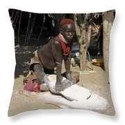Ethiopia-south Tribesman No.1 Throw Pillow