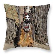 Ethiopia-south Tribesman No.2 Throw Pillow