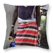 Ethiopia-south Tribesman No.3 Throw Pillow