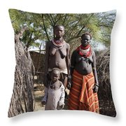 Ethiopia-south Tribeswomen No.1 Throw Pillow