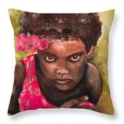 Etiopien Girl Throw Pillow