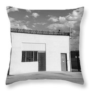 Eugene Building Bw Throw Pillow