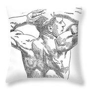 Eugene Sandow (1867-1925) Throw Pillow