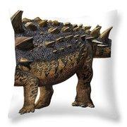 Euoplocephalus Tutus, A Prehistoric Era Throw Pillow