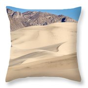 Eureka Dunes In Death Valley Throw Pillow