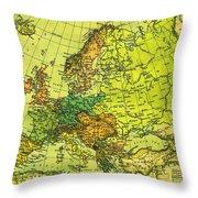 Europe Map Of 1911 Throw Pillow