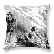 Europe: Witch Burning Throw Pillow by Granger