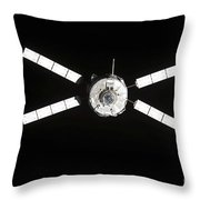 European Space Agencys Jules Verne Throw Pillow by Stocktrek Images