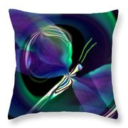 Eve Of The Dragonfly Throw Pillow
