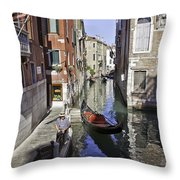 Even A Gondolier Has To Take A Break Throw Pillow